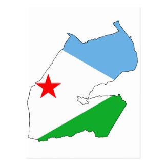 Carte DJ de drapeau de Djibouti