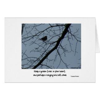 Carte d'oiseau de chant