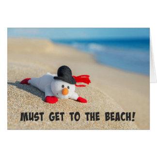 Carte Doit obtenir à la plage