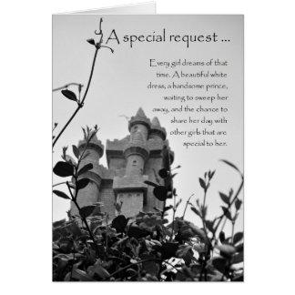 Carte Domestique de château de conte de fées d'honneur