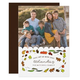 Carte Donnez la photo de Thanksgiving de famille des