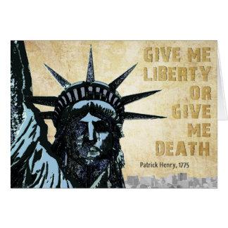 Carte Donnez-moi la liberté