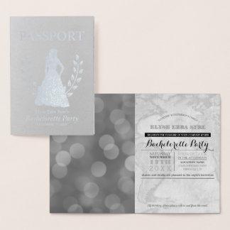 Carte Dorée Aluminium argenté de passeport de Bachelorette