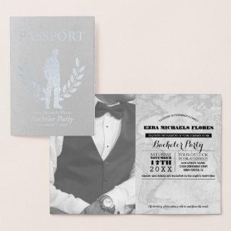 Carte Dorée Aluminium argenté de passeport d'enterrement de