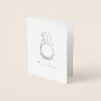 Carte Dorée Anneau de mariage de fiançailles de diamant de