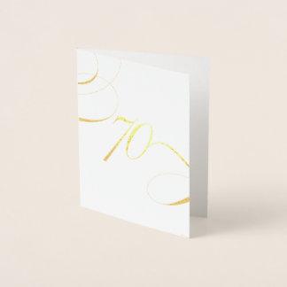 Carte Dorée Anniversaire d'anniversaire d'étape importante de