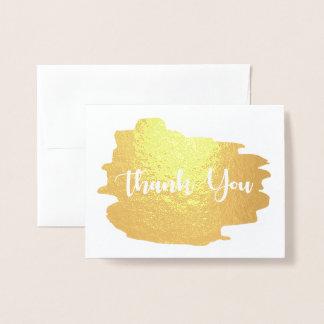 Carte Dorée Aquarelle d'or de Merci