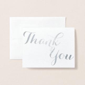 Carte Dorée Argent ou or cursif de Merci