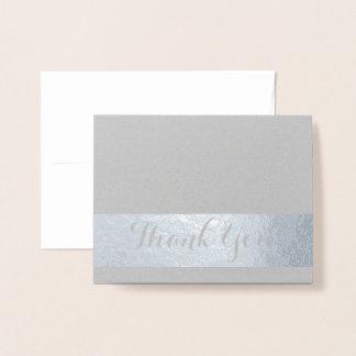 Carte Dorée Calligraphie de Merci