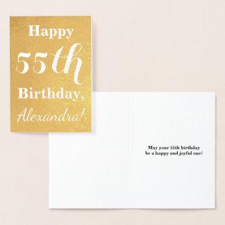 Carte Dorée Cinquante-cinquième anniversaire de feuille d'or