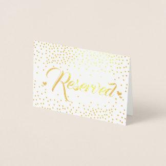 Carte Dorée Confettis de feuille d'or réservés