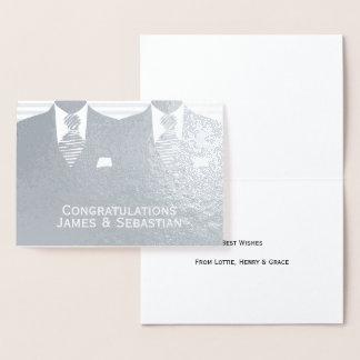 Carte Dorée Félicitations gaies de mariés du mariage deux
