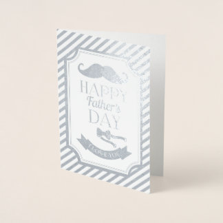 Carte Dorée Fête des pères heureuse