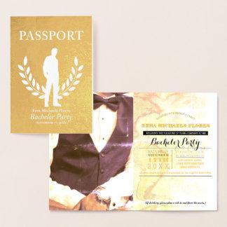 Carte Dorée Feuille d'or de passeport d'enterrement de vie de