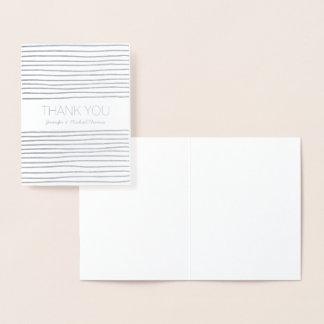 Carte Dorée L'argent barre le Merci personnalisé