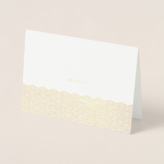 Carte Dorée Le Chinois gravé à l'eau-forte de feuille d'or