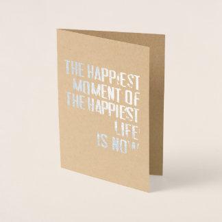 Carte Dorée Le moment le plus heureux