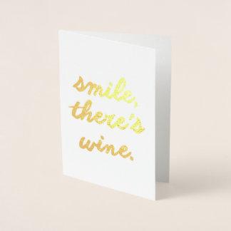 Carte Dorée Le sourire là est vin