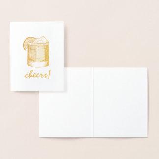 Carte Dorée Le verre de cocktail de margarita d'acclamations