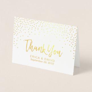 Carte Dorée Les confettis modernes de feuille d'or pointillent