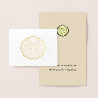 Carte Dorée Merci d'or de Shell de feston