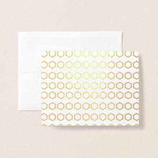 Carte Dorée Motif de nid d'abeilles de Merci