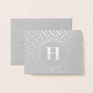 Carte Dorée Motif géométrique de monogramme de Merci