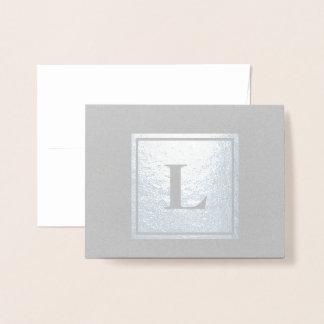 Carte Dorée Note carrée de Merci de monogramme