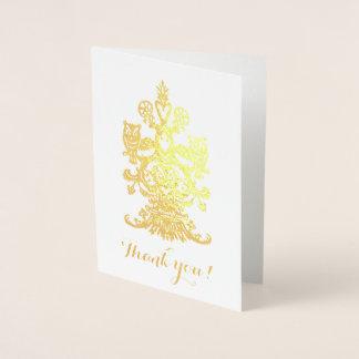 Carte Dorée Remerciez les hiboux royaux d'or de Yu