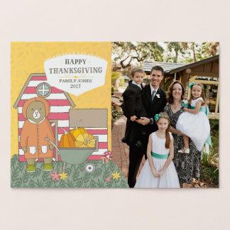 Carte Dorée Thanksgiving de photo de scènes d'automne