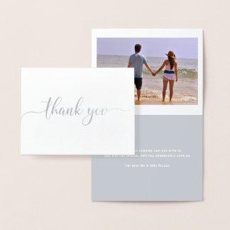 Carte Dorée Typographie de Merci