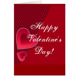 Carte Double heureuse Sainte-Valentin de coeurs dans le