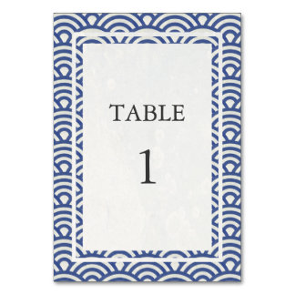Carte Doucement bleu + Nombre blanc de Tableau de Seigha