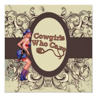 Carte Douche nuptiale de cow-girl rustique de pays