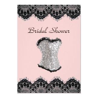 Carte Douche nuptiale de lingerie de corset vintage