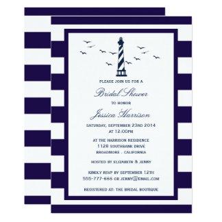 Carte Douche nuptiale de marine de phare nautique de