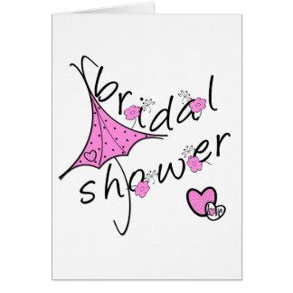 Carte Douche nuptiale de parapluie rose