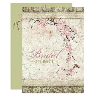 Carte douche nuptiale de pays chic minable de fleurs de