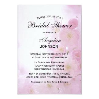 Carte Douche nuptiale de ressort de fleurs de cerisier