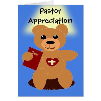 Carte d'ours de bible d'appréciation de pasteur