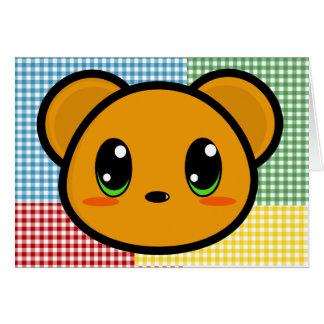 Carte d'ours de garçon de Chibi