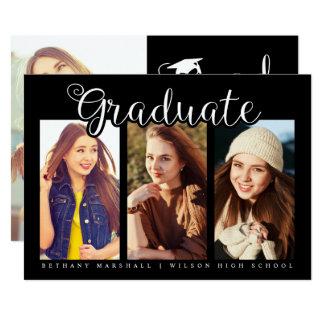 Carte Doux et à la mode, annonces d'obtention du diplôme