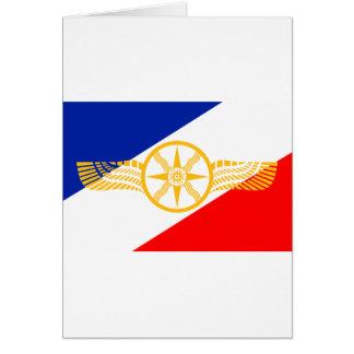 Carte Drapeau assyrien, drapeau chaldéen, drapeau de