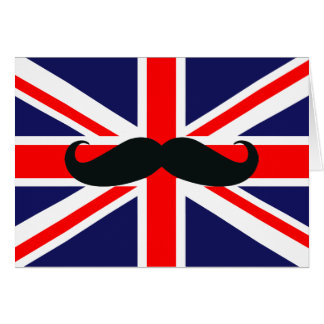 Carte Drapeau BRITANNIQUE de la Grande-Bretagne avec la
