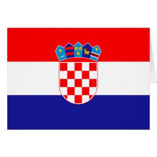 Carte Drapeau croate patriotique