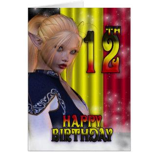 Carte Drapeau de Belge de joyeux anniversaire