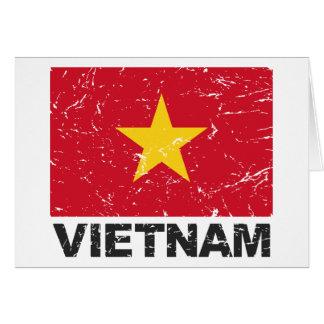 Carte Drapeau de cru du Vietnam