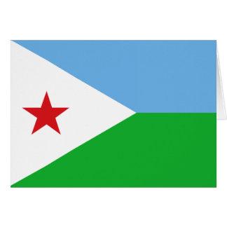 Carte Drapeau de Djibouti