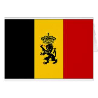 Carte Drapeau de drapeau de gouvernement de la Belgique
