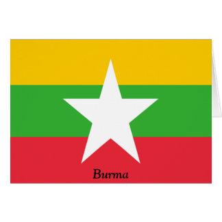 Carte Drapeau de la Birmanie